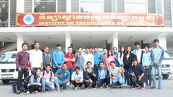 Educational field trip to Angkor's area of 5th year GRU students under ADB's scholarship sup