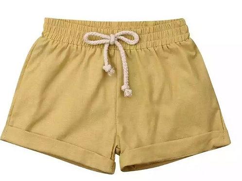 Linen shorts - Mustard