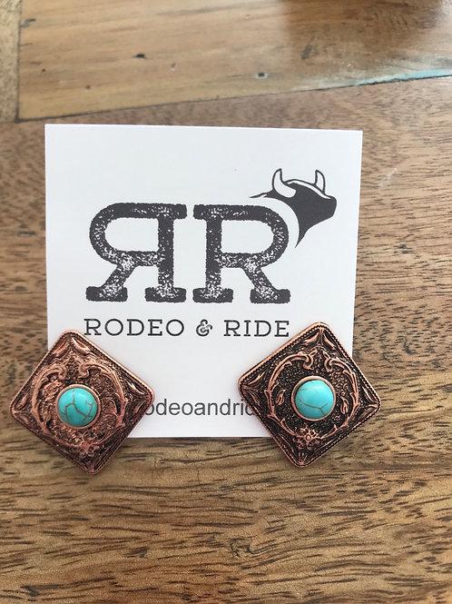 Copper diamond studs
