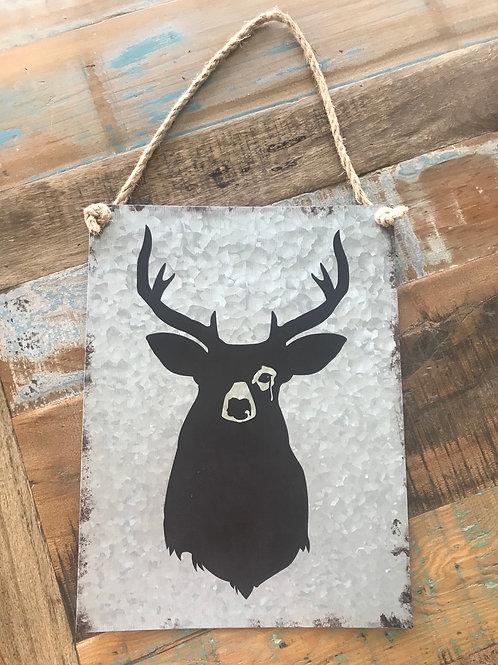 Deer - tin wall hanging.