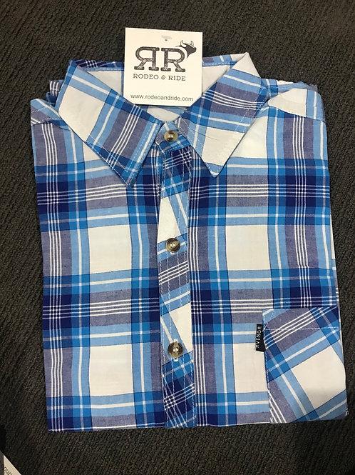 Sea Blues Plaid Long Sleeve shirt