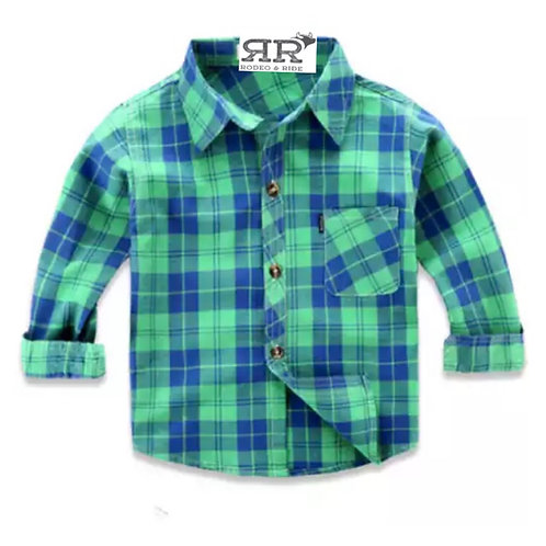 Green and Blue Plaid