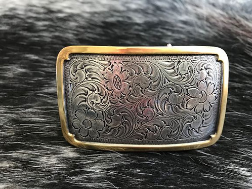 Filigree with satin gold edge