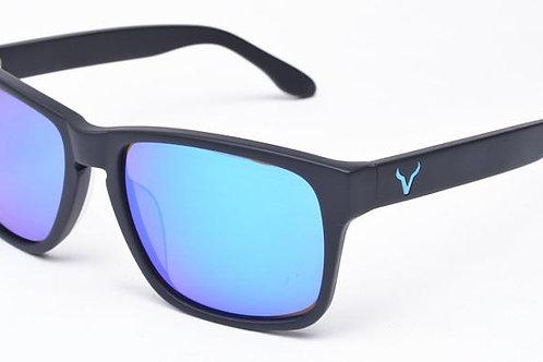 Blue Mirror - Black Frame - Vexil Brand