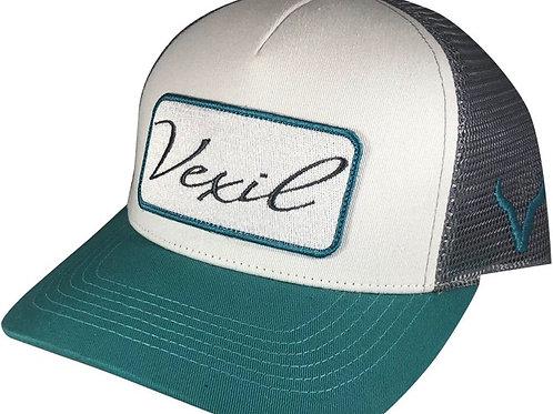 Vexil Brand Patch - Teal/White/Grey Mesh