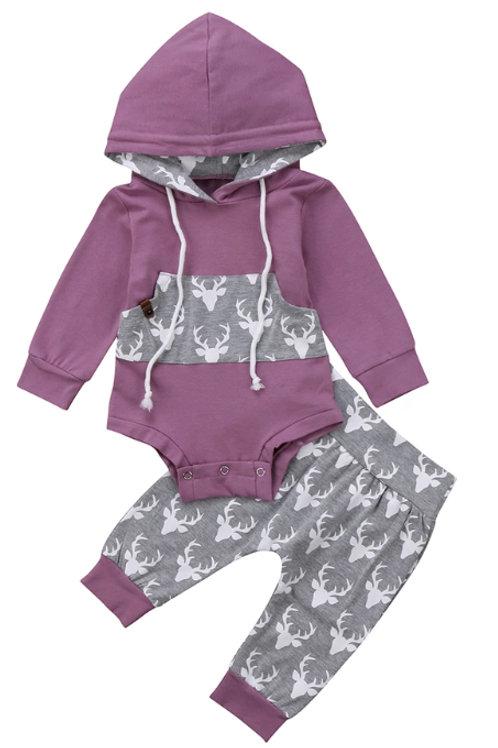 Purple hoodie set