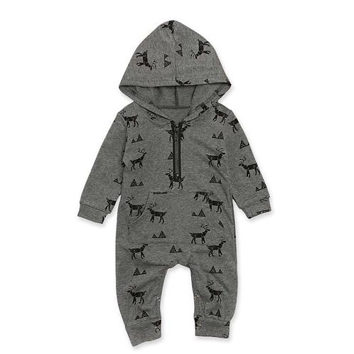 Deer suit, grey with Zip