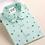 Thumbnail: Mint green long sleeve collar shirt