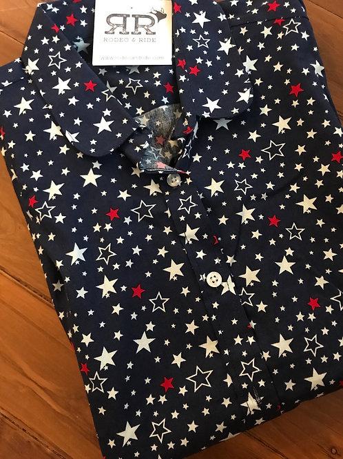 Stars blue long sleeve shirt