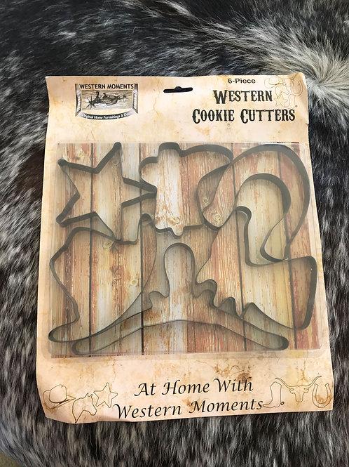 Cowboy cookie cutter set