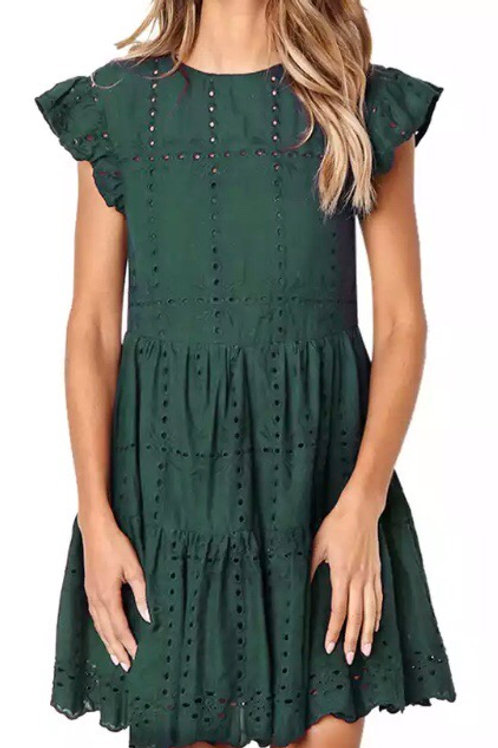 Linen n lace - green