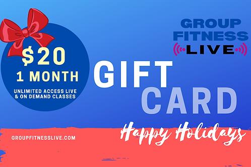 Gift Card: 1 month GFL Membership