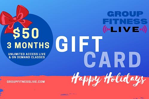 Gift Card: 3 Month GFL Membership