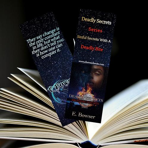 Blue Deadly Secret Bookmarkers