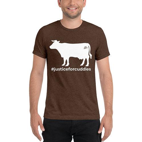 #JUSTICEFORCUDDLES  Short sleeve t-shirt