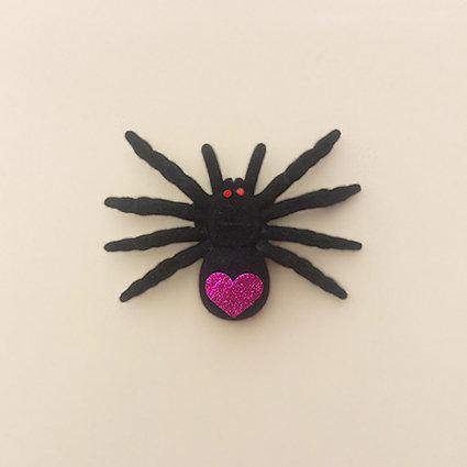 Presilha Aranha Grande Halloween moda feminina infantil acessórios para meninas dia das bruxas