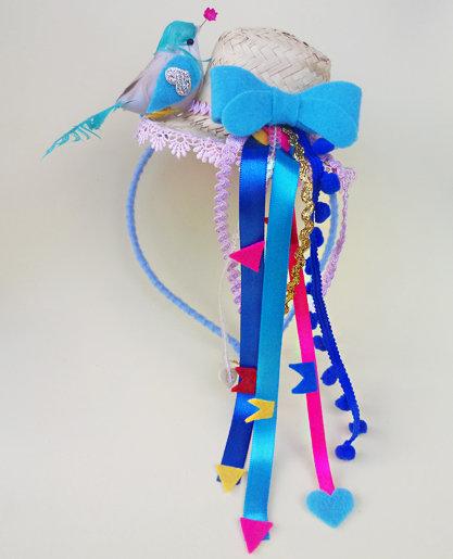 Tiara Azul Chapéu Junina