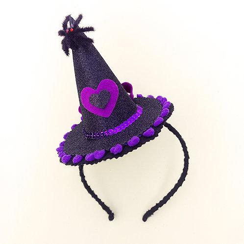 Tiara Chapéu de Bruxa Halloween acessórios para meninas dia das bruxas arco