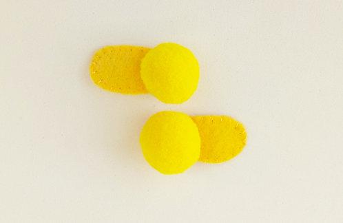 Presilha Tic Tac para Bebê Pompom Amarelo