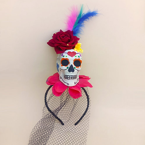 Tiara Caveira Mexicana Halloween dia das bruxas acessórios para meninas moda feminina acessório infantil arco