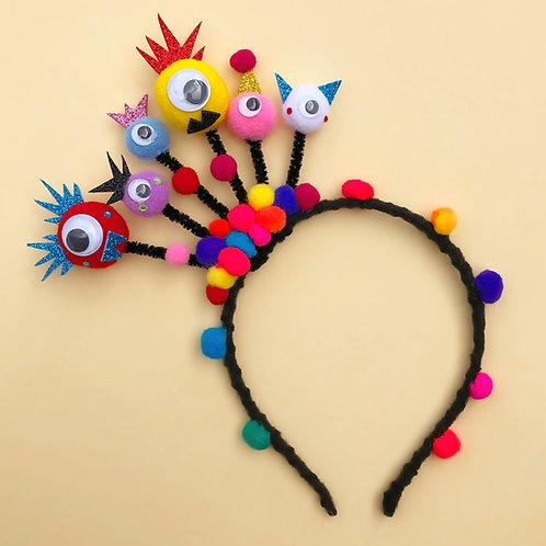 Tiara Monstrinho moda feminina acessório para meninas moda infantil enfeite cabelo enfeite de cabeça acessório de cabeça arco