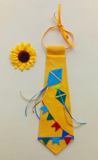 Gravata Amarela Festa Junina Pipas