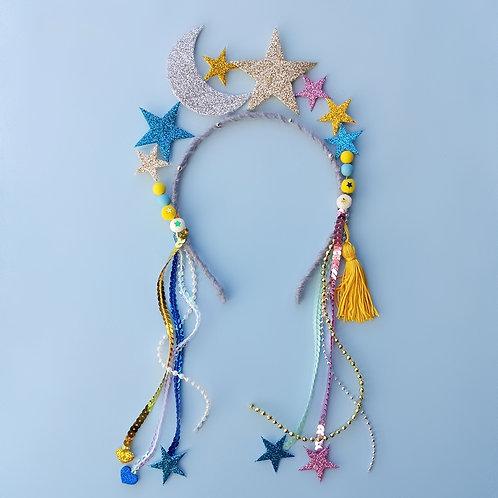 Tiara Estrelas Coloridas acessórios femininos moda infantil arco de cabeça carnaval