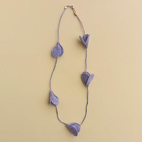Colar Tulipa Cinza moda feminina acessórios para meninas moda infantil