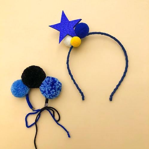 Tiara Estrela Bracelete para meninas enfeite de cabelo enfeite de cabeça acessório de cabeça arco carnaval fantasia