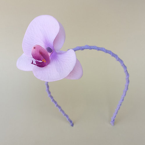 Tiara Flor Orquídea acessórios para meninas moda infantil feminina