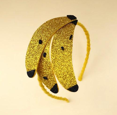 Tiara Bananas acessórios femininos moda infantil arco de cabeça enfeite de cabelo, enfeite de cabeça arquinho carnaval