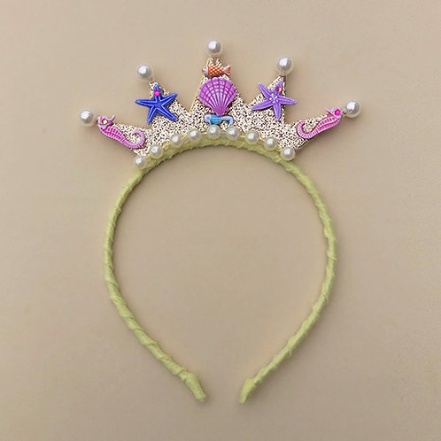 Tiara Sereia Amarela moda feminina moda infantil acessórios para meninas acessórios femininos arco