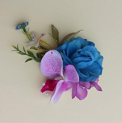 Presilha Flor Orquídea enfeite cabeça