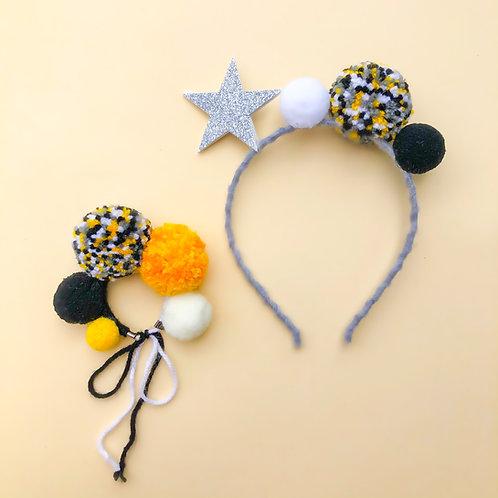 Tiara Estrela braceletes para meninas enfeite de cabelo enfeite de cabeça acessório de cabeça arco carnaval fantasia