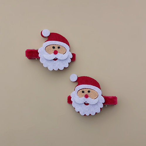 Presilha Papai Noel moda feminina acessórios para meninas moda infantil presilha natal