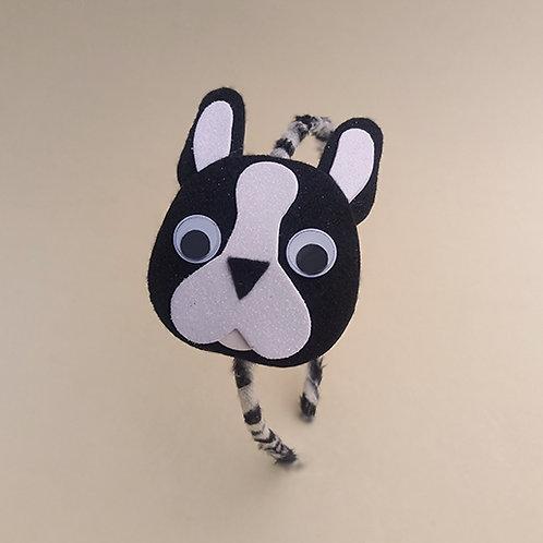 Tiara Bulldog Francês moda feminina moda infantil acessórios para meninas acessórios femininos arco