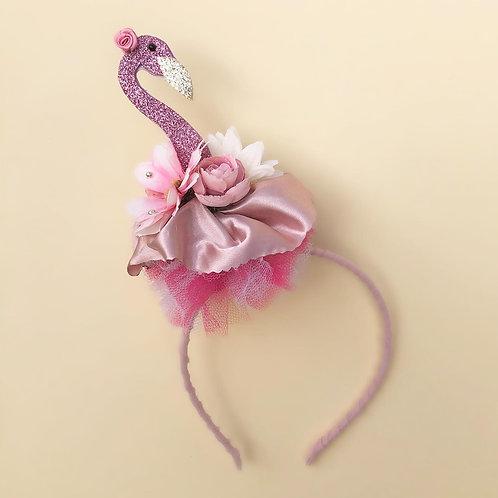 Tiara Flamingo acessórios para meninas enfeite de cabelo enfeite de cabeça acessório de cabeça arco carnaval fantasia