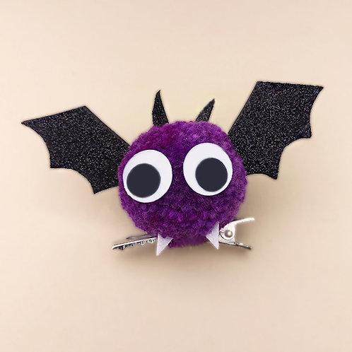 Presilha Morcego Laranja moda infantil moda feminina acessórios para meninas dia das bruxas
