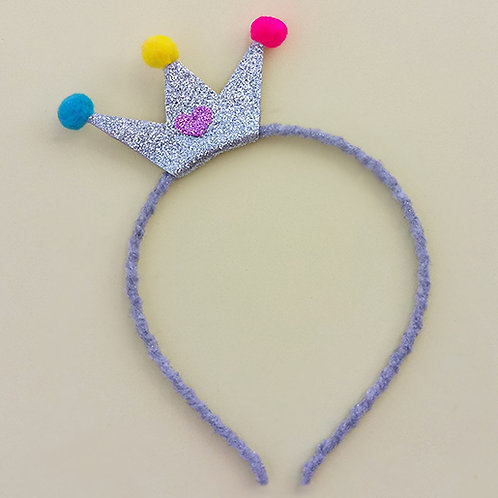 Tiara Coroa Prata acessórios para meninas
