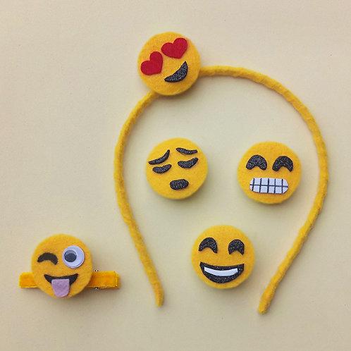 Tiara presilha Emoji enfeite de cabeça