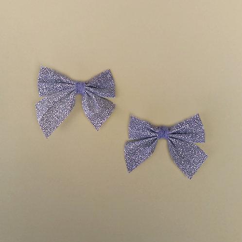 Presilha Laço Glitter Prata moda feminina moda infantil acessórios para meninas