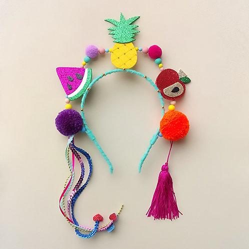 Tiara Salada de Frutas acessórios femininos moda infantil carnaval Arco de cabeça