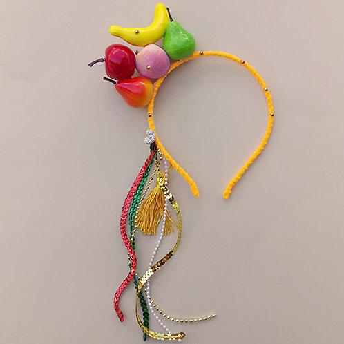 Tiara Frutas Carnaval Fantasia moda feminina moda infantil acessórios para meninas