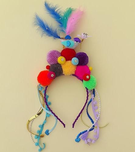Tiara Pássaro Encantado acessórios femininos moda infantil carnaval arco