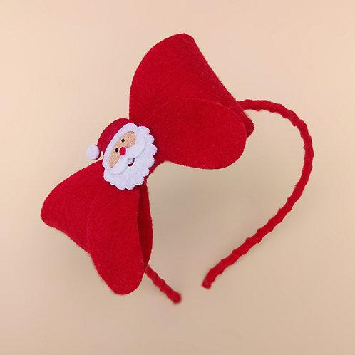 Tiara Laço Vermelho Papai Noel moda feminina acessórios para meninas moda infantil tiara natal