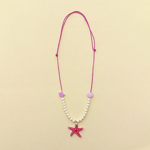 Colar Rosa Estrela do Mar moda feminina acessórios para meninas moda infantil
