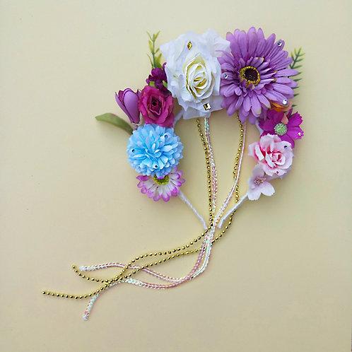 Tiara Branca Flores