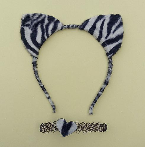 Tiara Pelúcia Zebra Choker