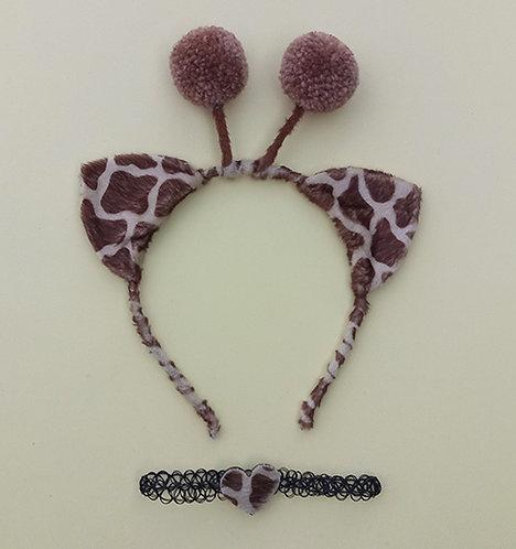Tiara Pelúcia Girafa Choker