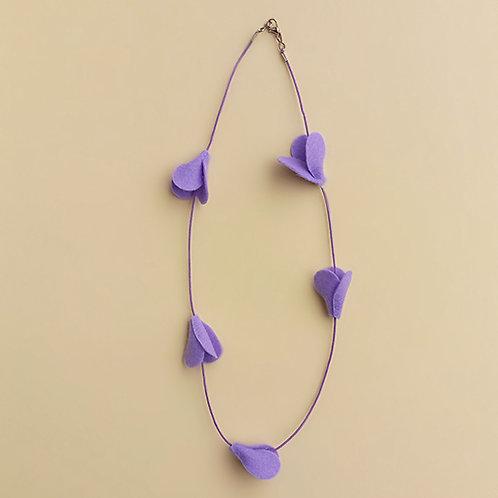 Colar Tulipa Lavanda moda feminina acessórios para meninas moda infantil